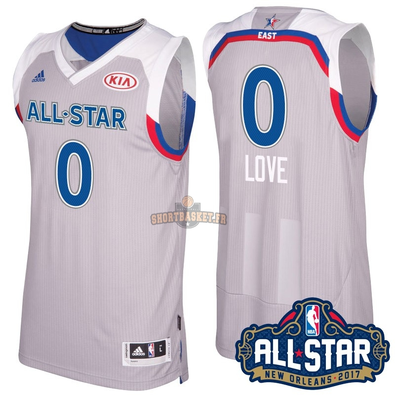 Nouveau Maillot NBA 2017 All Star NO.0 kevin love Gray pas cher
