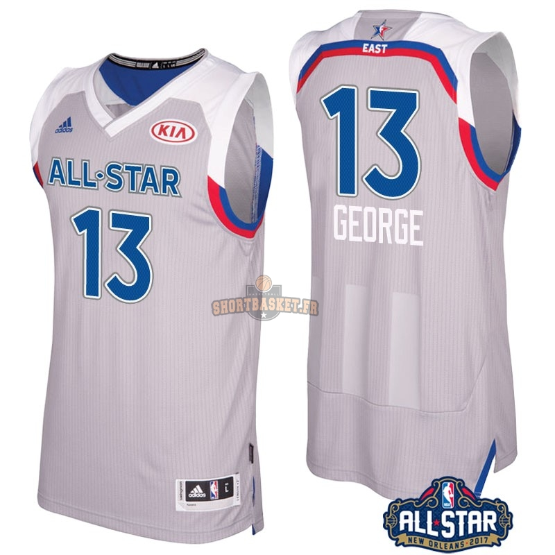 Nouveau Maillot NBA 2017 All Star NO.13 Paul George Gray pas cher