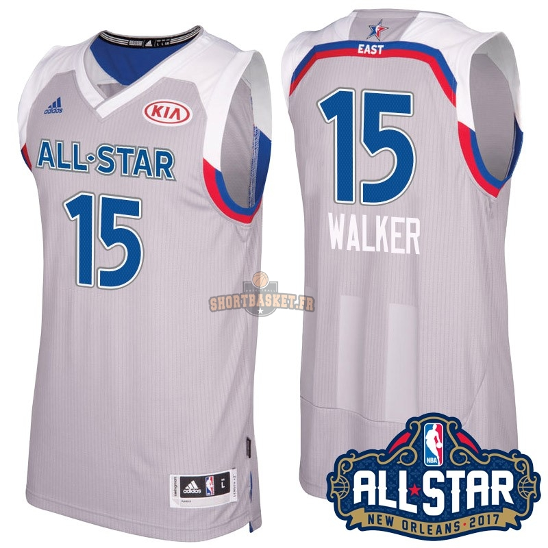 Nouveau Maillot NBA 2017 All Star NO.15 kemba Walker Gray pas cher