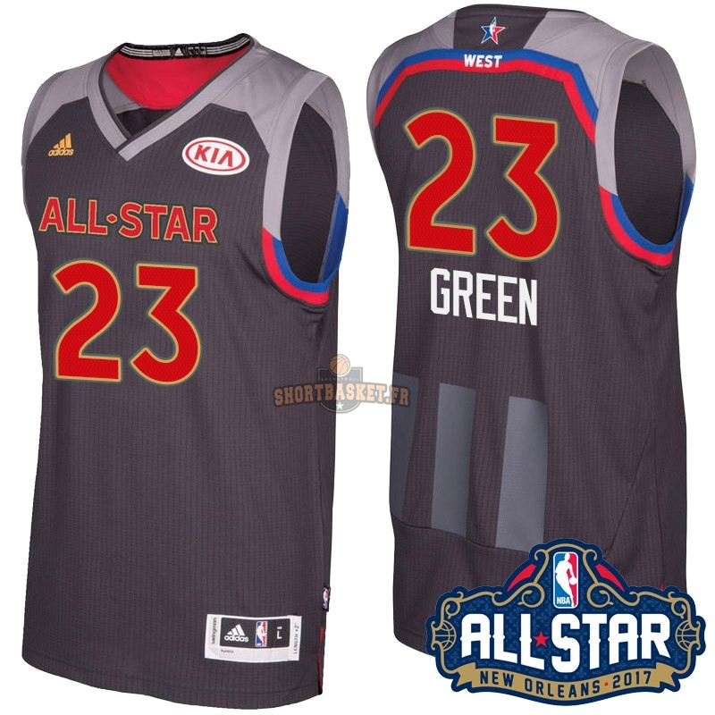 Nouveau Maillot NBA 2017 All Star NO.23 Draymond Green Charbon pas cher
