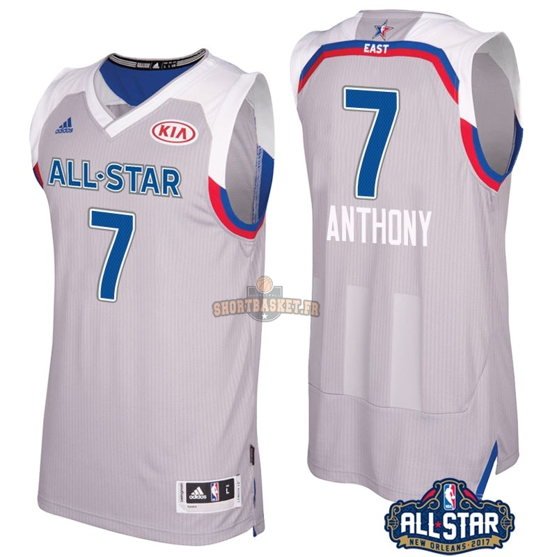 Nouveau Maillot NBA 2017 All Star NO.7 Carmelo Anthony Gray pas cher