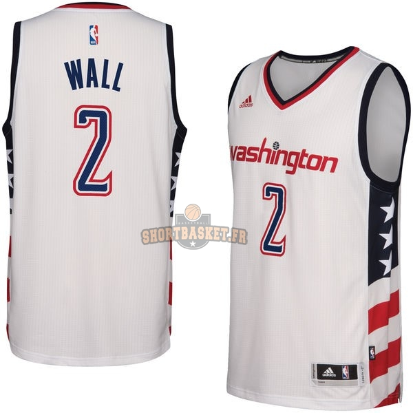 Nouveau Maillot NBA Washington Wizards NO.2 John Wall Blanc 2016-2017 pas cher