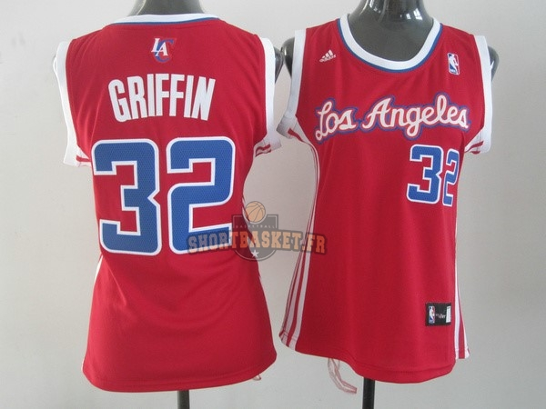 Nouveau Maillot NBA Femme Los Angeles Clippers NO.32 Blake Griffin Rouge pas cher
