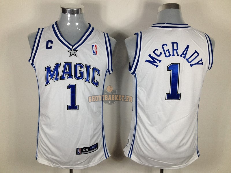 Nouveau Maillot NBA Femme Orlando Magic NO.1 Tracy McGrady Blanc pas cher