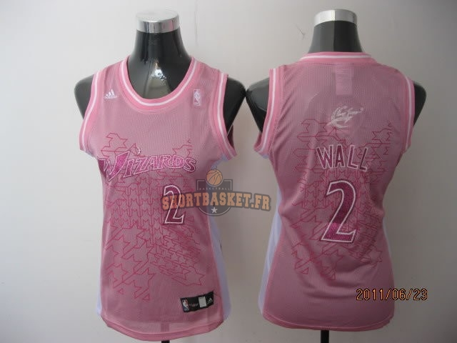 Nouveau Maillot NBA Femme Washington Wizards NO.2 John Wall Rose pas cher