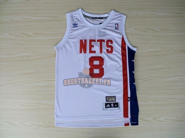 Nouveau Maillo ABA Brooklyn Nets NO.8 Willams Blanc pas cher