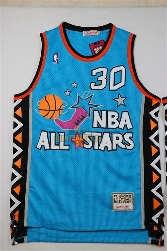 Nouveau Maillot NBA 1996 All Star NO.30 Scottie Pippen Bleu pas cher