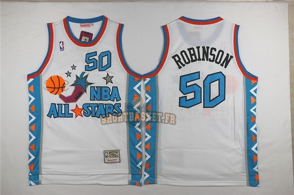 Nouveau Maillot NBA 1996 All Star NO.50 David Robinson Blanc pas cher