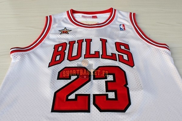 Nouveau Maillot NBA 1998 All Star NO.23 Michael Jordan Blanc pas cher