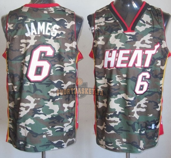 Nouveau Maillot NBA 2013 Camouflage Fashion NO.6 James pas cher
