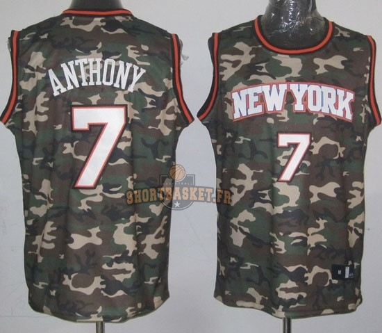 Nouveau Maillot NBA 2013 Camouflage Fashion NO.7 Anthony pas cher