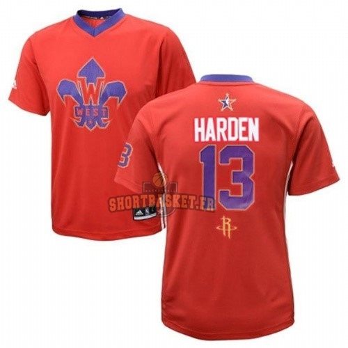Nouveau Maillot NBA 2014 All Star NO.13 James Harden Rouge pas cher