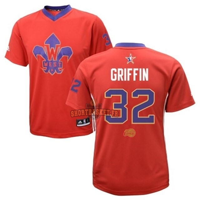Nouveau Maillot NBA 2014 All Star NO.32 Blake Griffin Rouge pas cher