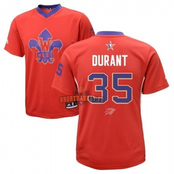 Nouveau Maillot NBA 2014 All Star NO.35 Kevin Durant Rouge pas cher