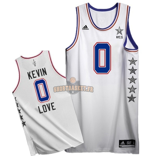 Nouveau Maillot NBA 2015 All Star NO.0 Kevin Love Blanc pas cher