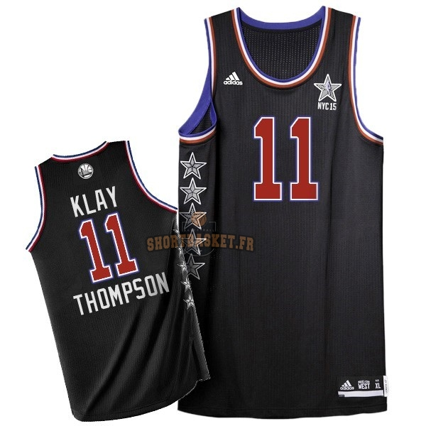 Nouveau Maillot NBA 2015 All Star NO.11 Klay Thompson Noir pas cher