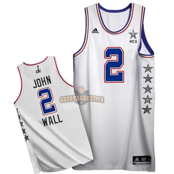 Nouveau Maillot NBA 2015 All Star NO.2 John Wall Blanc pas cher