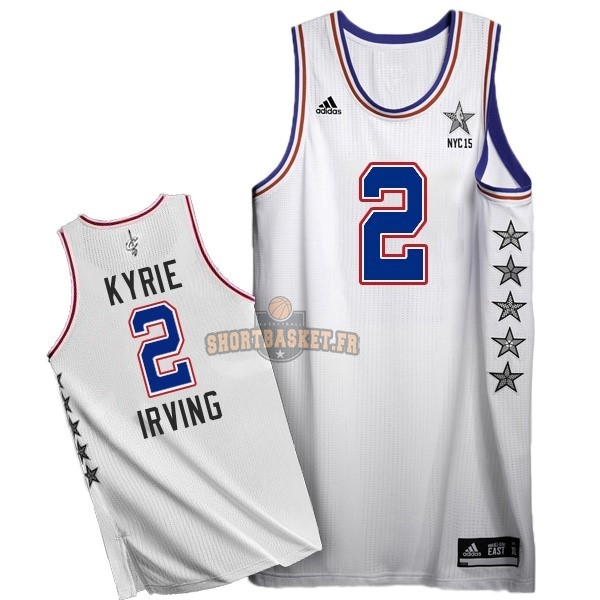 Nouveau Maillot NBA 2015 All Star NO.2 Kyrie Irving Blanc pas cher