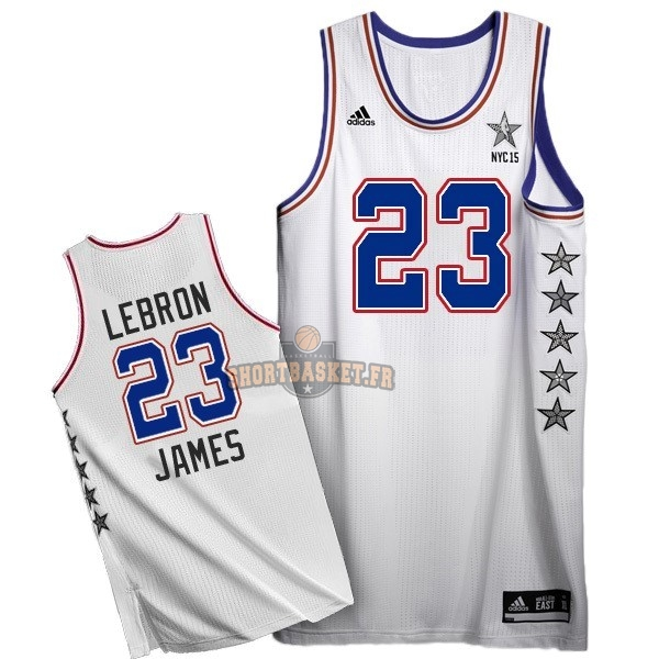Nouveau Maillot NBA 2015 All Star NO.23 LeBron James Blanc pas cher