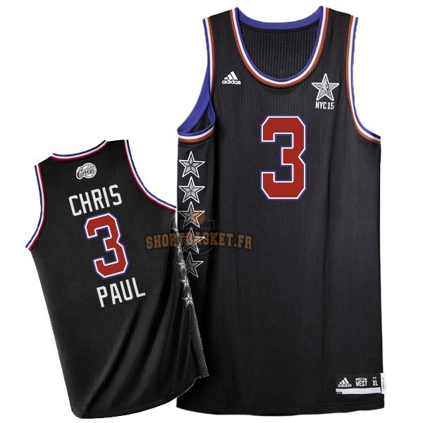 Nouveau Maillot NBA 2015 All Star NO.3 Chris Paul Noir pas cher