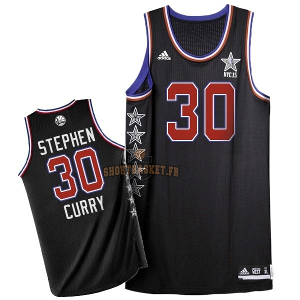 Nouveau Maillot NBA 2015 All Star NO.30 Stephen Curry Noir pas cher