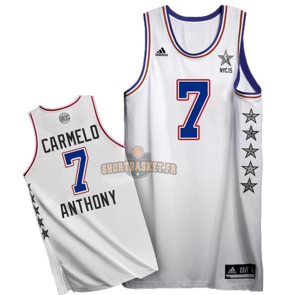 Nouveau Maillot NBA 2015 All Star NO.7 Carmelo Anthony Blanc pas cher