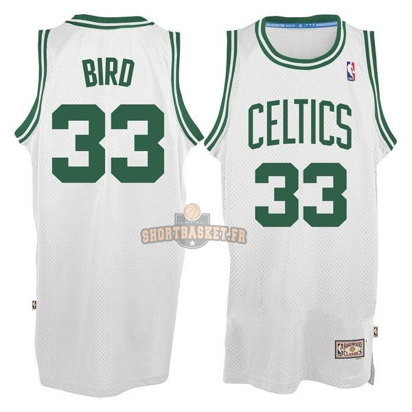 Nouveau Maillot NBA Boston Celtics No.33 Larry Joe Bird Blanc pas cher