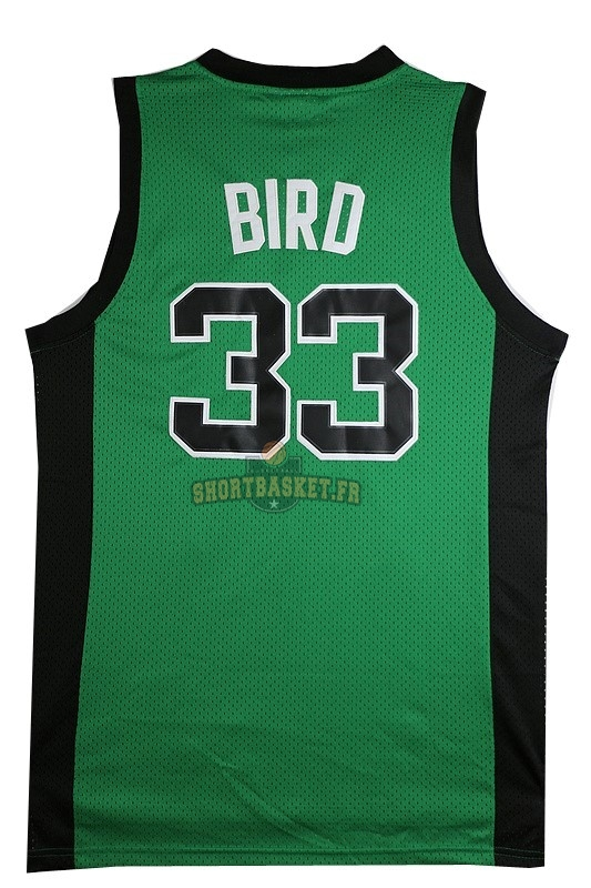 Nouveau Maillot NBA Boston Celtics No.33 Larry Joe Bird Vert Noir pas cher