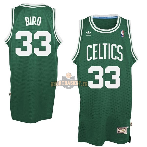 Nouveau Maillot NBA Boston Celtics No.33 Larry Joe Bird Vert pas cher