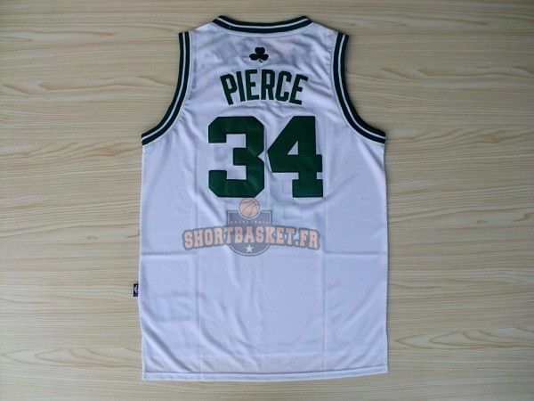 Nouveau Maillot NBA Boston Celtics No.34 Paul Pierce Blanc pas cher