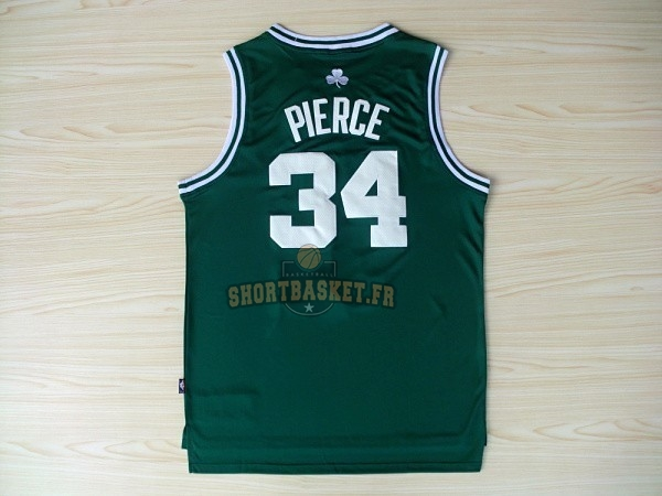 Nouveau Maillot NBA Boston Celtics No.34 Paul Pierce Vert Blanc pas cher