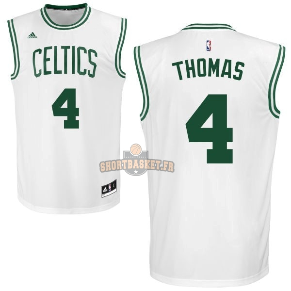 Nouveau Maillot NBA Boston Celtics No.4 Isaiah Thomas Blanc pas cher
