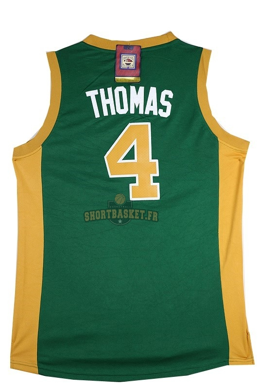 Nouveau Maillot NBA Boston Celtics No.4 Isaiah Thomas Vert Orange pas cher