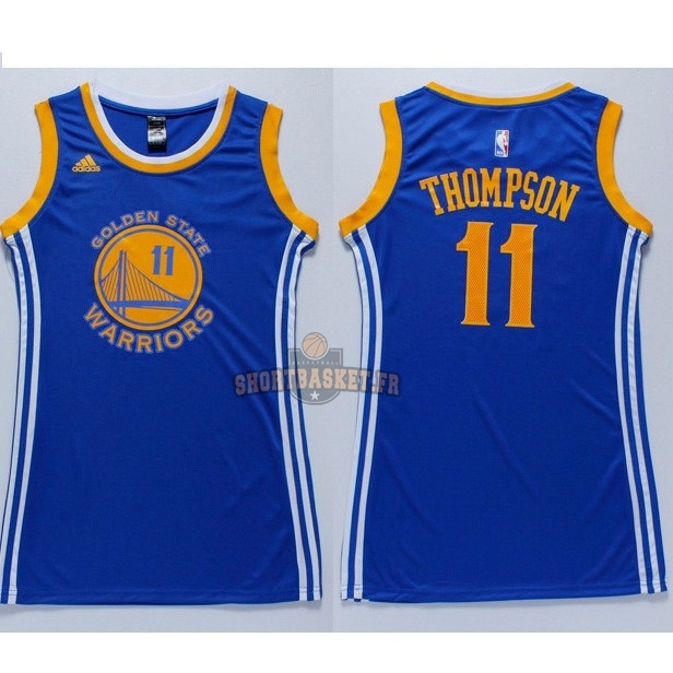 Nouveau Maillot NBA Femme Golden State Warriors NO.11 Klay Thompson Bleu pas cher