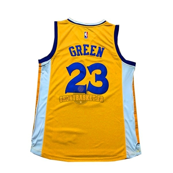Nouveau Maillot NBA Femme Golden State Warriors NO.23 Draymond Green Jaune pas cher