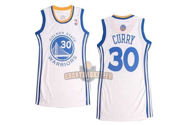 Nouveau Maillot NBA Femme Golden State Warriors NO.30 Stephen Curry Blanc pas cher