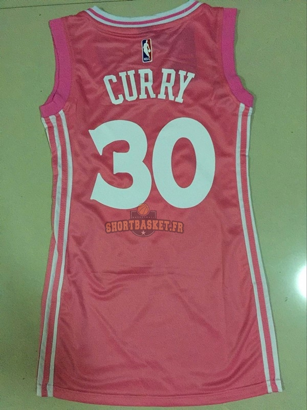 Nouveau Maillot NBA Femme Golden State Warriors NO.30 Stephen Curry Rose pas cher