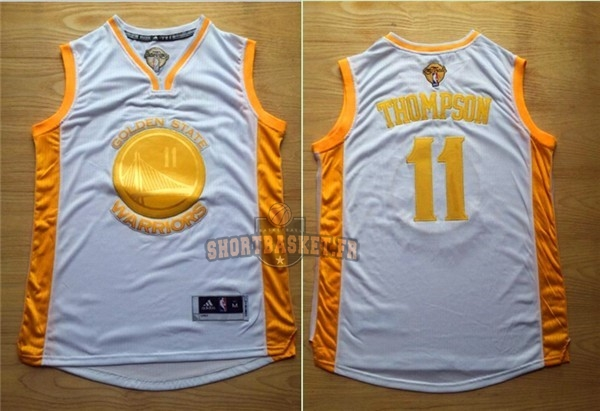 Nouveau Maillot NBA Golden State Warriors NO.11 Klay Thompson Or pas cher