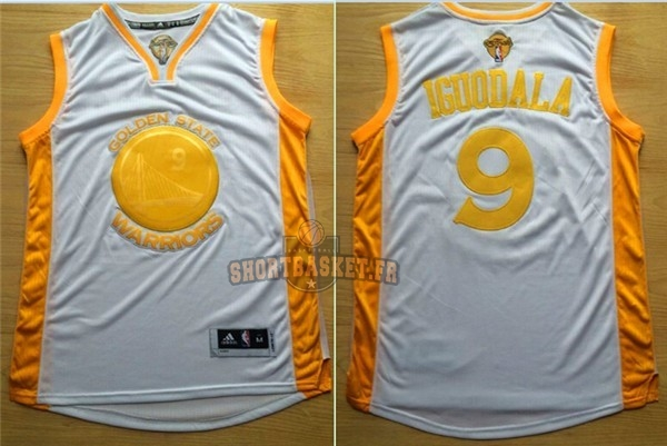 Nouveau Maillot NBA Golden State Warriors NO.9 Andre Iguodala Or pas cher