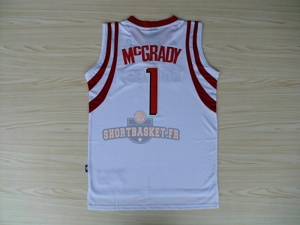 Nouveau Maillot NBA Houston Rockets NO.1 Tracy McGrady Blanc pas cher