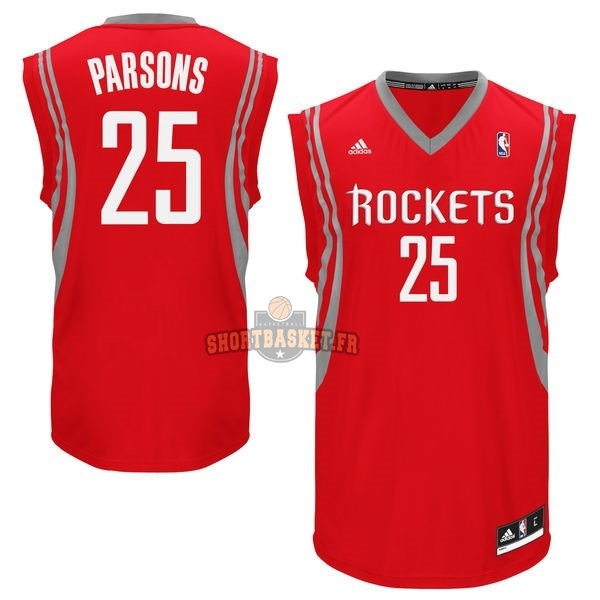 Nouveau Maillot NBA Houston Rockets NO.25 Chandler Parsons Rouge pas cher