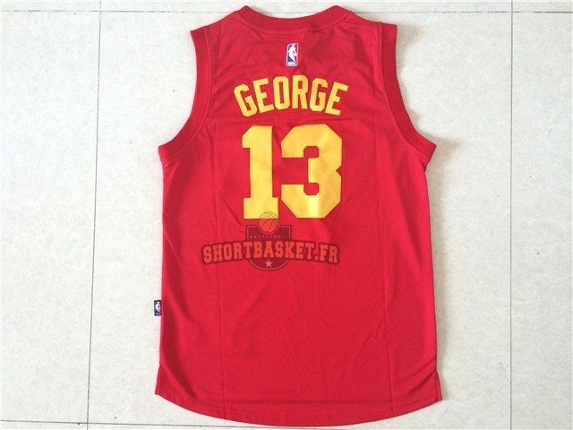 Nouveau Maillot NBA Indiana Pacers NO.13 Paul George Rouge pas cher