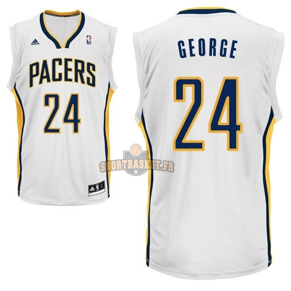 Nouveau Maillot NBA Indiana Pacers NO.24 Paul George Blanc pas cher
