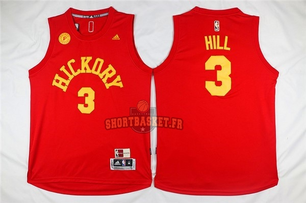 Nouveau Maillot NBA Indiana Pacers NO.3 George Hill Rouge pas cher
