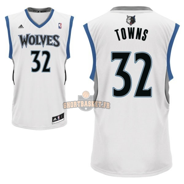Nouveau Maillot NBA Minnesota Timberwolves NO.32 Karl Anthony Towns Blanc pas cher