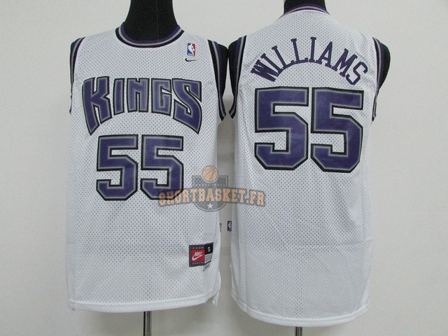 Nouveau Maillot NBA Sacramento Kings NO.55 Jason Williams Blanc pas cher