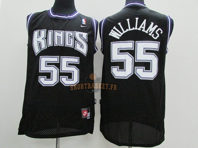 Nouveau Maillot NBA Sacramento Kings NO.55 Jason Williams Noir pas cher