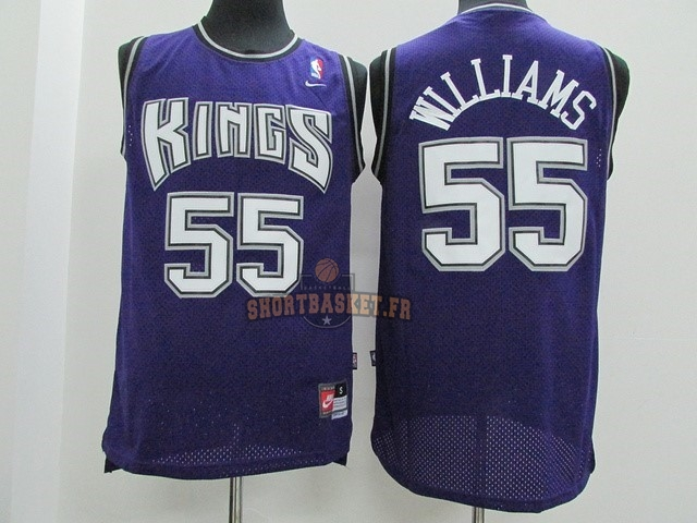 Nouveau Maillot NBA Sacramento Kings NO.55 Jason Williams Pourpre pas cher