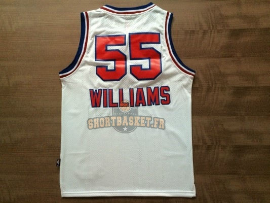 Nouveau Maillot NBA Sacramento Kings NO.55 Jason Williams Retro Blanc pas cher