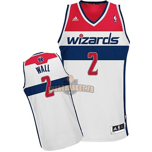 Nouveau Maillot NBA Washington Wizards NO.2 John Wall Blanc pas cher